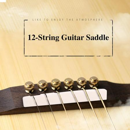 Sonew Bone Guitar Bridge Saddle \u0026 Nut pour accessoires pour instruments de guitare acoustique folk ficelle 12 cordes, selle de pont de guitare acoustique Bone, selle de pont de guitare acoustique - image 7 de 7