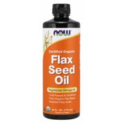 Best Flaxseed Oils - NOW Supplements, Certified Organic Flax Seed Oil Liquid Review