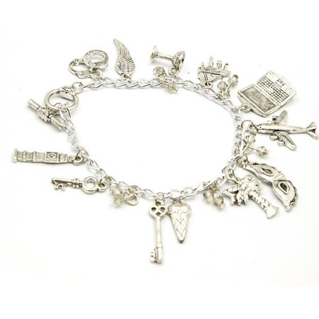(50 Shades of Grey 13 Charms Lobster Clasp Bracelet in Gift Box by Superheroes)