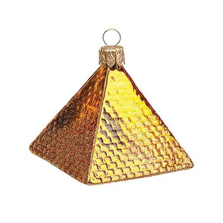 Pinnacle Peak Trading Co Pinnacle Peak Glass Mini Egyptian Pyramid Christmas Ornament (Trading Christmas Cast)