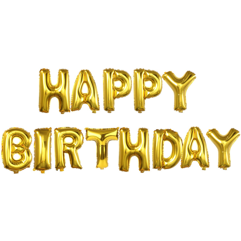 Happy Birthday Balloon(16 inches), Outgeek Mylar Aluminum Foil Happy ...