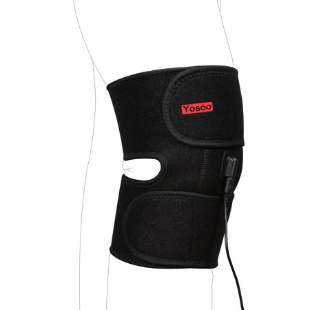 Heated Knee Brace Wrap Support / Electric Therapeutic Heating Pad for Joint Pain, Arthritis Pain Relief ()