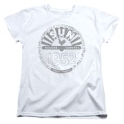 Sun Records Crusty Logo Womens Short Sleeve Shirt