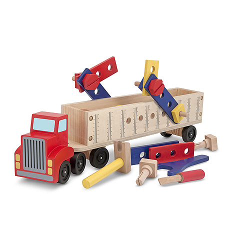 Big Rig Building Truck Wooden Play Set by Melissa %26 Doug