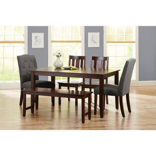 Better Homes and Gardens 6-Piece Dining Set, Gray
