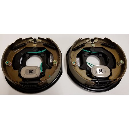 Two 10 in. x 2 in. Electric Brake Trailer Backing Plates (Left and Right)