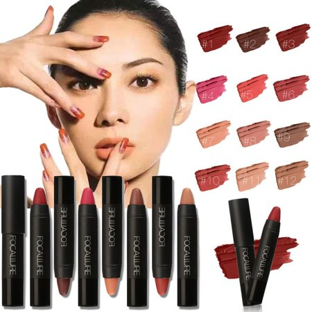 Elecmall Vintage Color Lipstick Waterproof Shimmer Moisturizing Long Lasting Lip Gloss