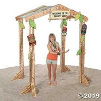 Summer Tiki Hut Cardboard Stand-Up, 7ft
