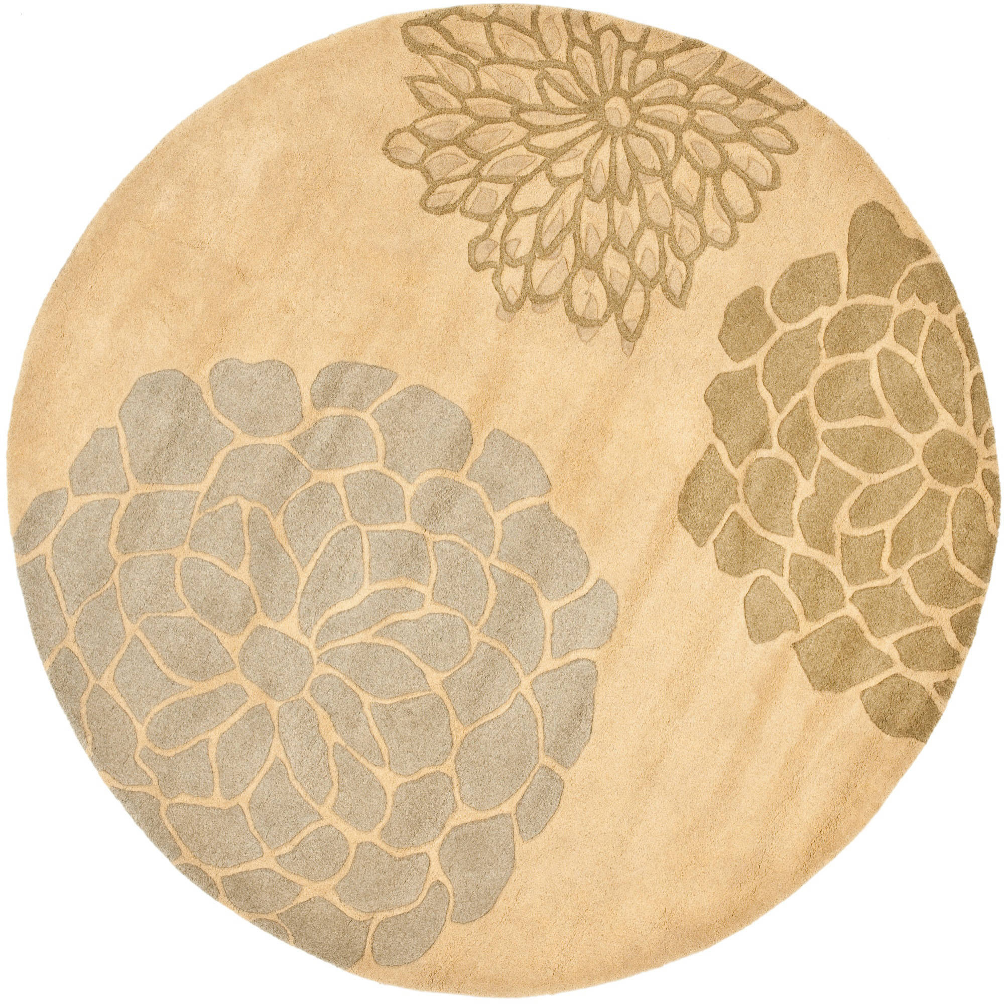 Safavieh Soho Brisbane Wool Round Area Rug, Beige / Multi-Color, 6' Diameter