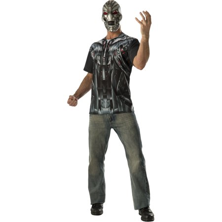 Adult Mens Marvel Avengers 2 Ultron T-Shirt And Mask Costume