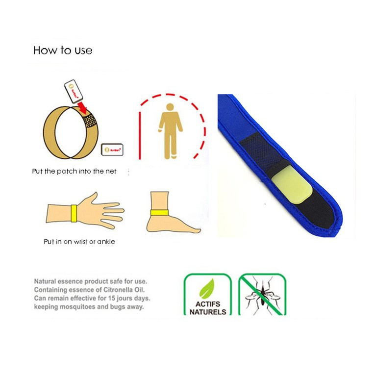 Summer Non-Toxic Adult Children Mosquito Repellent Bracelet With 4 Refill
