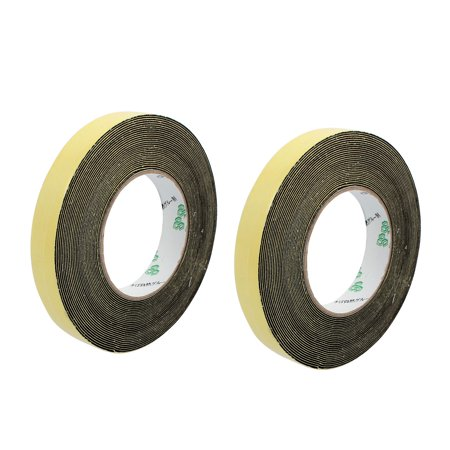 2Pcs 10mm Width 1mm Thickness Single Side Sponge Foam Tape Black 10 Meter Length - image 3 of 3