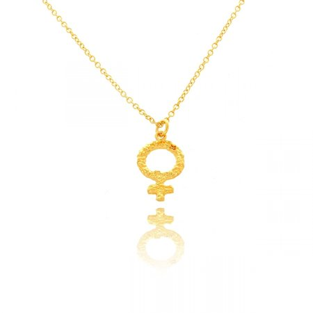 Belcho Usa Belcho 14k Gold Overlay Small Textured Hammered Venus