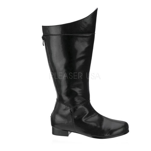 Mens Superhero Black Halloween Boots Small Size 8-9