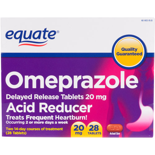 Equate Omeprazole Tablets, 28 count