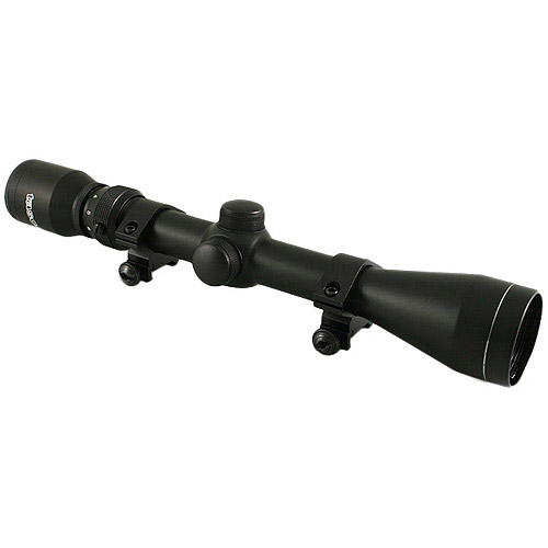 Tasco 3-9 x 40 Rifle Scope with Rings, Black