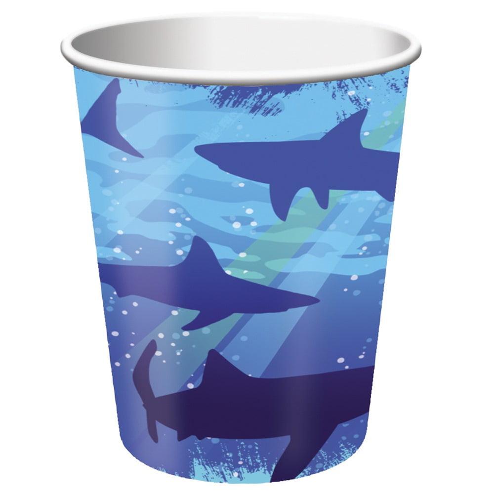 9 oz Hot/Cold Paper Cups Shark Splash/Case of 96