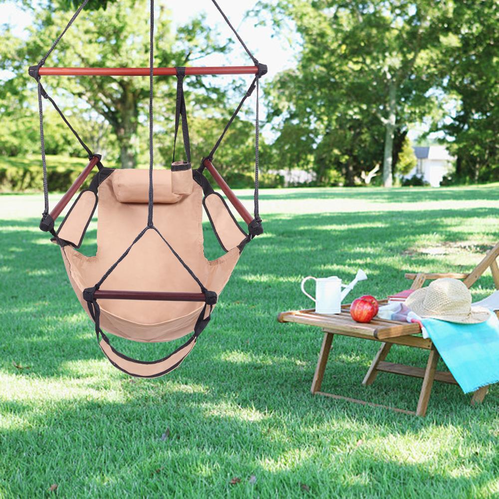 Chair Hanging Rope Swing Hammock Outdoor Sleeping Gear Porch Patio Yard Camping