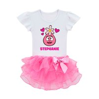 Yo Gabba Gabba I Love Foofa Personalized Toddler Girls' Tutu Tee, Pink