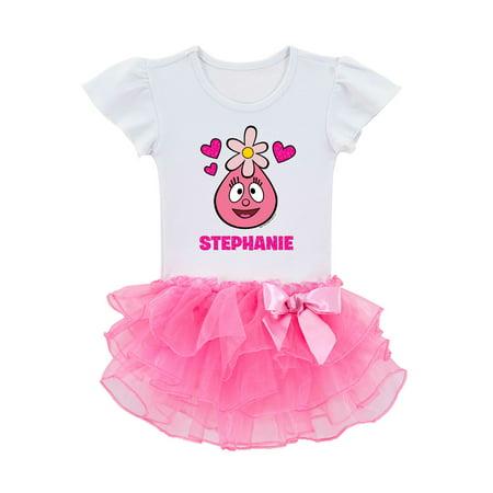 Yo Gabba Gabba I Love Foofa Personalized Toddler Girls' Tutu Tee, Pink](Yo Gabba Gabba Shoes)