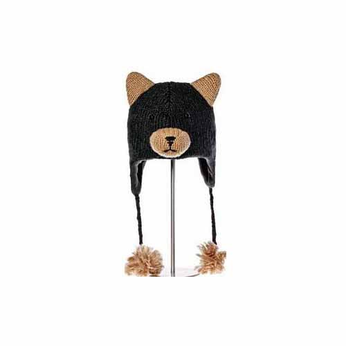 Kids Babu The Black Bear Pilot Hat by Knitwits - AK1379, ...