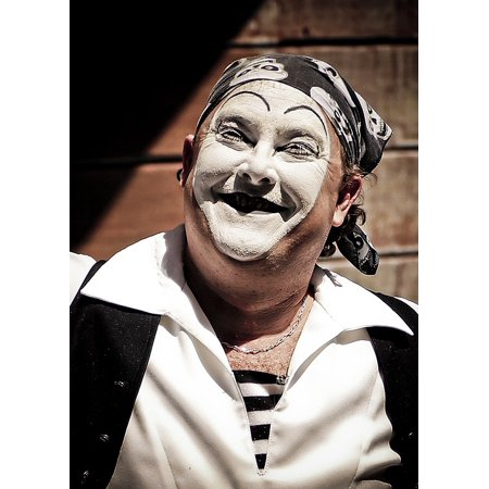 Canvas Print Expression Face Clown Smile Mime Makeup Actor Stretched Canvas 10 x 14 - Creepy Mime Makeup