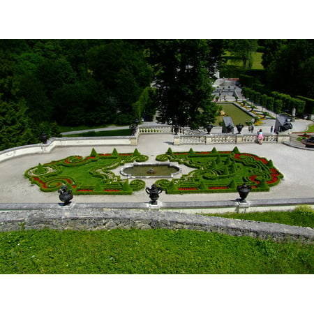 LAMINATED POSTER Castle Architecture Garden Linderhof Palace Poster Print 24 x 36