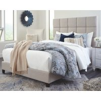 Signature Design by Ashley Dolante Checkered Beige Queen Upholstered Bed