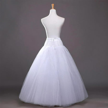 No Hoop 8 Layer Bridal Petticoats Slips Dress Petticoat Wedding Dress White Long Underskirt Petticoats Crinoline (Slip For Wedding Dress)