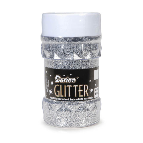 Glitter Jar - Silver - Big Value - 4 ounces