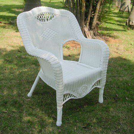 Phenomenal Riviera Resin Wicker Aluminum Outdoor Dining Chair White Alphanode Cool Chair Designs And Ideas Alphanodeonline