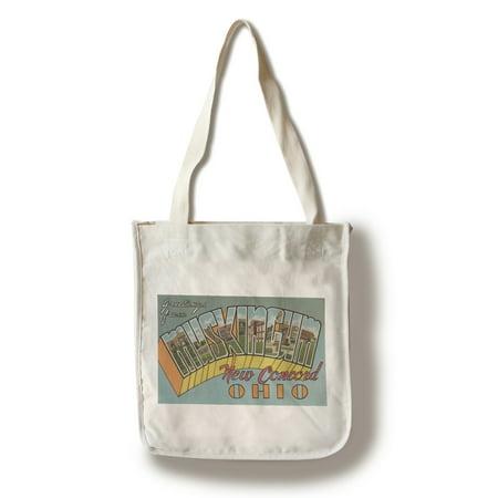 New Concord, Ohio - Muskingum County - Large Letter Scenes (100% Cotton Tote Bag - (Concord 11 Kids)