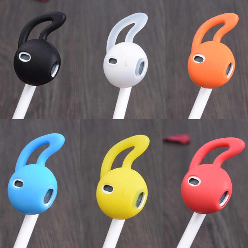 Hight Quality Earphone Cover Tips Hook For Airpods Anti-Slip Soft Silicone BK