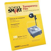 "School Smart Laser Transparency Film without Sensing Strip, 8.5"" x 11"", 50-Pack"