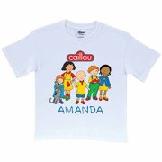 Personalized Caillou Friends Kids' White T-Shirt