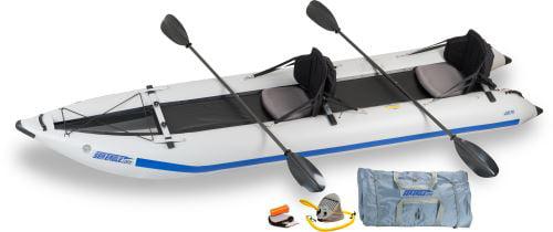 Sea Eagle 435ps PaddleSki Inflatable Catamaran Kayak Pro Carbon Package by Sea Eagle Boats, Inc.