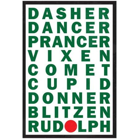 Reindeer Names Poster - 13x19 - Raindeer Names