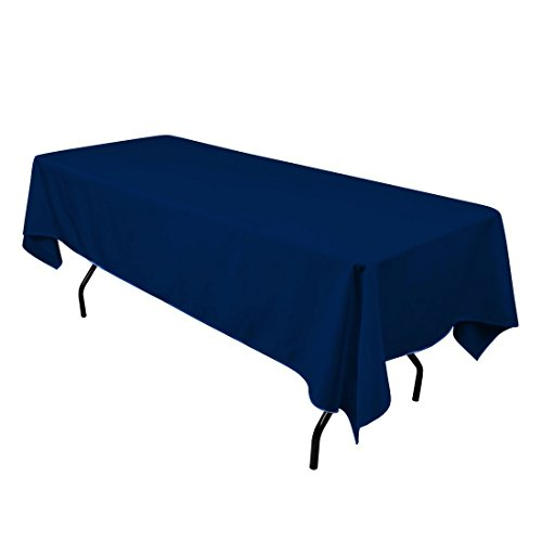 Gentil Gee Di Moda Tablecloth Rectangular 60 X 126 Inch Polyester   Navy Blue  Tablecloth   Thanksgiving