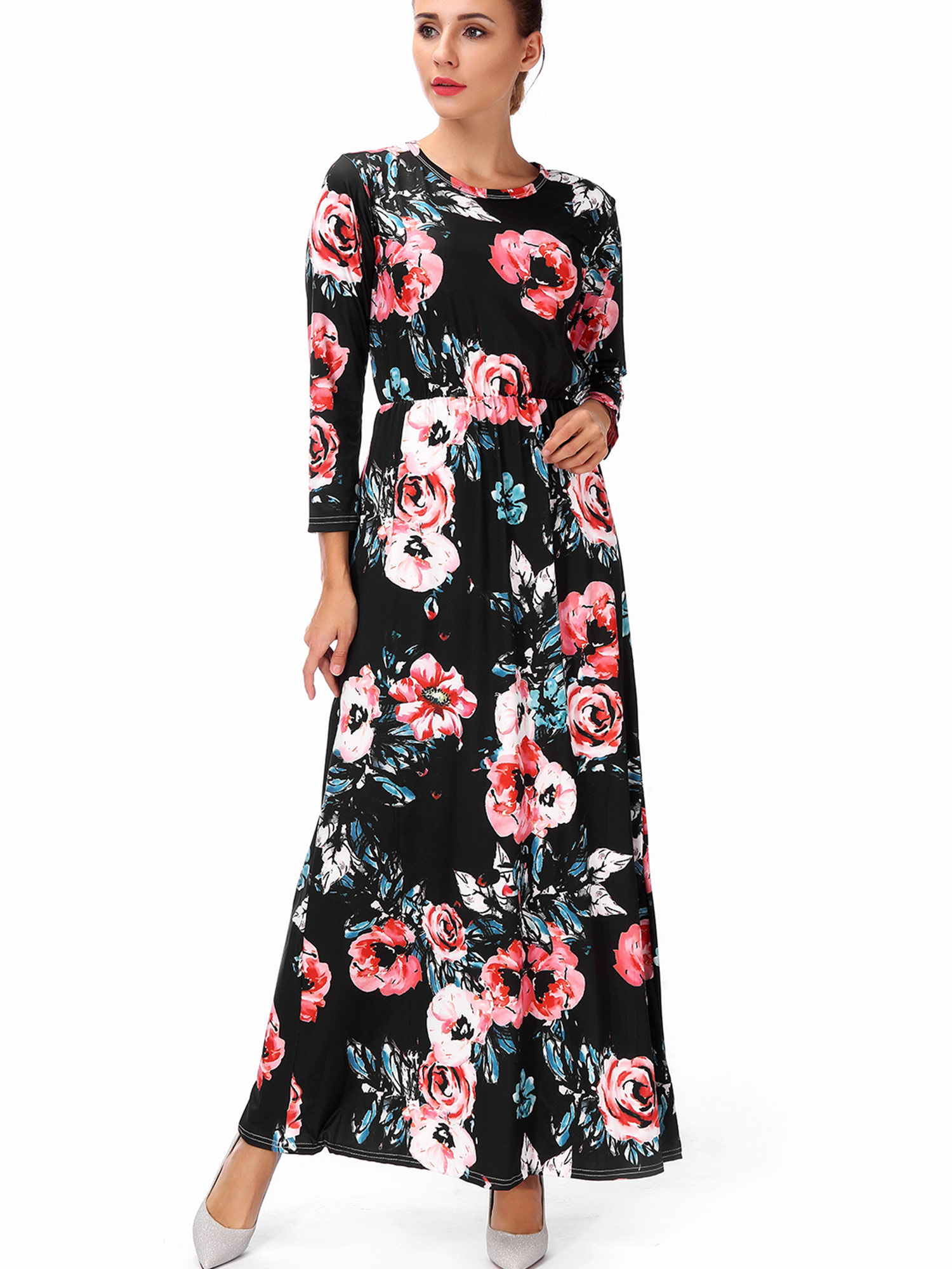 SAYFUT - Plus Size Maternity Dresses Long Sleeve Empire ...