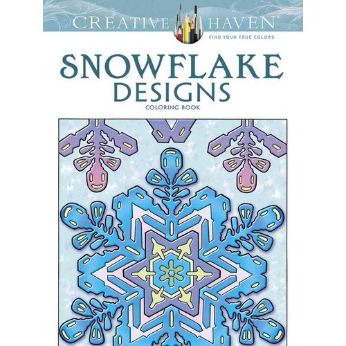 Snowflake Designs Adult Coloring Book