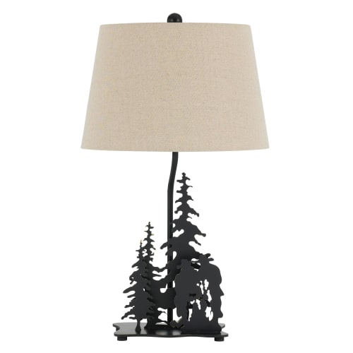"Cal Lighting BO-2712TB Cowboy Single Light 26"" Tall Novelty Table Lamp with Tree by CAL Lighting"