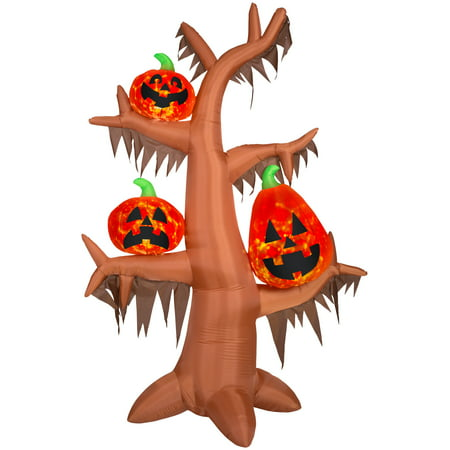 Scary Halloween Food For Parties (8.5' Airblown Kaleidoscope Scary Tree Halloween)