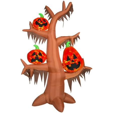 8.5' Airblown Kaleidoscope Scary Tree Halloween - Dollar Tree Halloween Bags