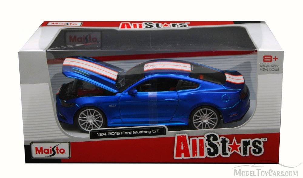 Maisto 1:24 2015 Ford Mustang GT Diecast Metal Model Car Vehicle New in Box