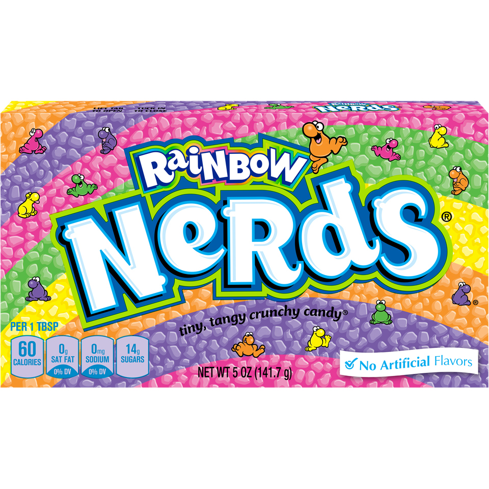Wonka Nerds Rainbow Crunchy Candy, 5 Oz.
