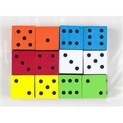 Koplow Games Inc. KOP17332 16Mm Foam Dice 12Pk Assorted Color Spot