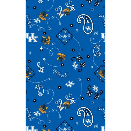 University of Kentucky Bandana print on 100% Cotton Broadcloth-Sold by the Yard - Stores That Sell Bandanas