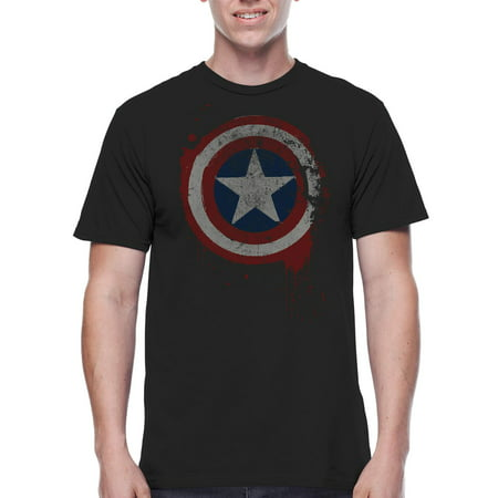 Marvel Captain America Freedom From Fear Mens Graphic Tee