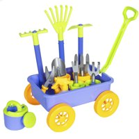 Best Choice Products Kids 14-Piece Toy Gardening Set w/ Wagon, 8 Tools, Pots, Pail, Multicolor