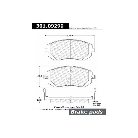 Go-Parts OE Replacement for 2003-2010 Subaru Forester Front Disc Brake Pad Set for Subaru Forester (2.5i / 2.5i Touring / 3.0 R Premier / Base / Limited / WRX)